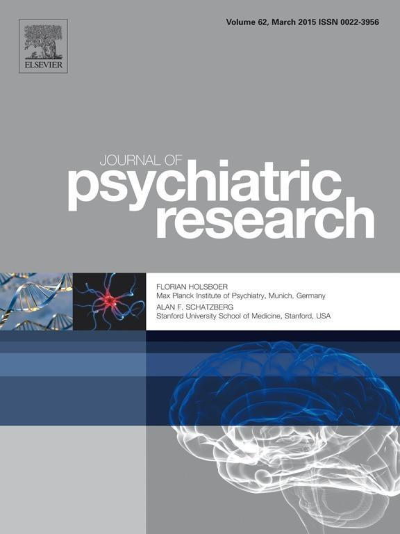 journal of psychiatric research cover