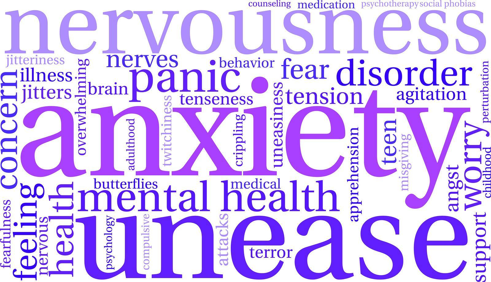 what is anxiety Anxiety can be a normal part of life when faced with stressors such as changes in relationships, presenting in front of a crowd, or making decisions.