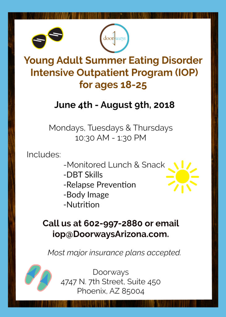 Summer Eating Disorders IOP for Young Adults, PHoenix, AZ
