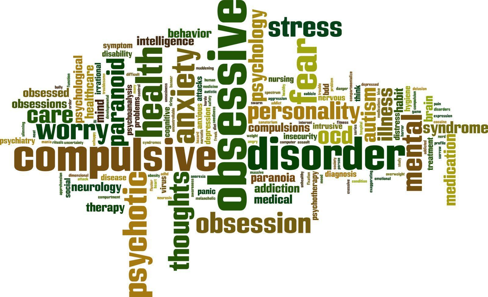 obsessive disorder compulsive young ocd obsessions thoughts adults word cloud anxiety obsession research compulsions unwanted papers personality repetitive tag provoking